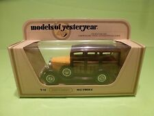 MATCHBOX YESTERYEAR Y-21 FORD MODEL A 1927 - WOODY - EXCELLENT IN BOX