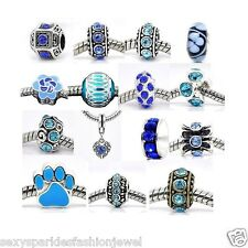 Ten Assorted March Birthstone for Snake Chain Charm Bracelet-#101
