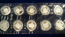 Johnson Matthey Bill of Rights Complete Silver Proof Set 10 troy ozs .999 fine