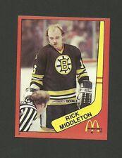 Rick Middleton Boston Bruins #9 1982-83 McDonald's Hockey Sticker NM/M