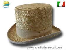 Chapeau haut de forme paille naturelle Melegari Italie 1
