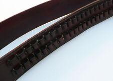 Western BANDOLIER BANDOLERO Strap Belt 30-30 Caliber Ammo. Black Cowhide Leather