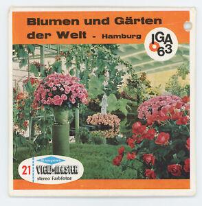 Blumen und Gärten der Welt IGA 1963 Hamburg RARE View-Master Packet C-416