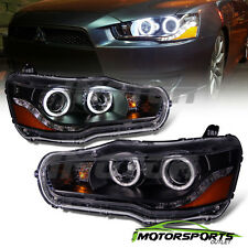 [Dual CCFL Halo] 2008-2016 Mitsubishi Lancer EVO X LED DRL Projector Headlights