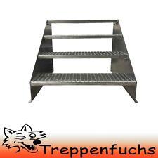 2 marches Stand Escalier Acier Escalier emplacement libre largeur 110 cm hauteur 42 cm Galvanisé