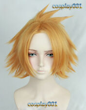 My Boku no Hero Academia Kaminari Denki Wig Short Golden Cosplay Wig +track +cap