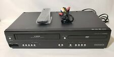 Magnavox DVD/VHS Combo Player DV220MW9 4-Head VHS/ VCR Recorder Remote Tested