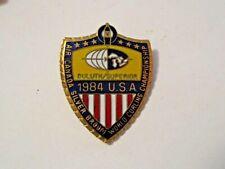 NOS VINTAGE 1984 SILVER BROOM U.S. WORLD CHAMPIONSHIP DULUTH SPORTS CURLING PIN