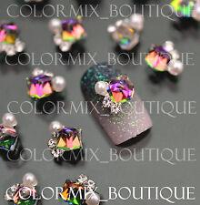 #CA016  3D Bijoux ongles , reflets cristal strass nail art tip manucure