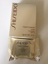 New Shiseido Liquid Compact Refill Natural Light Ivory I2 with SPF15