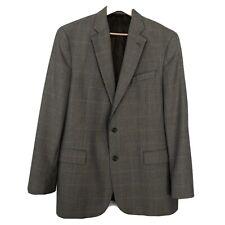 Brooks Brothers Sport Coat 44L Herringbone Notch Lapel Flap Pockets Wool