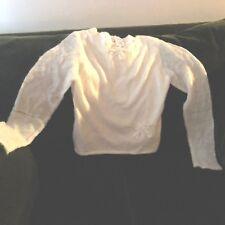 American Girl Girl Sweater Size Large White