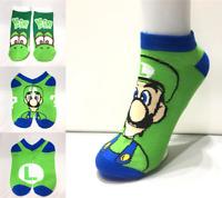 Anime Super Mario Odyssey Luigi Yoshi Crew Socks Men Women Cosplay Socking