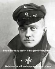Vintage Antique World War I WWI WW1 Flying Ace Red Baron Blue Max Medal Photo