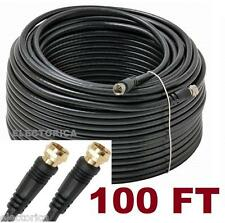 100 FT RG-6 COAX CABLE RG6 COAXIAL CONNECTOR SATELLITE BELL ROGERS ANTENNA SHAW