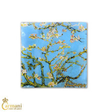 Square Glass Plate Art Print by Vincent Van Gogh 'ALMOND BLOSSOM' 13x13cm