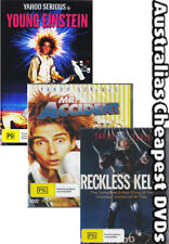Reckless Kelly,Young Einstein and Mr Accident   DVD NEW, FREE POST IN AUST REG 0