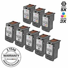 8 PK SET PG-210XL CL-211XL Black & Color  Ink Cartridge for Canon PIXMA MP480