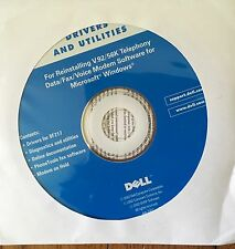 Dell Drivers & Utilities Reinstalling V.92/56K Telephony Data Fax Software CD