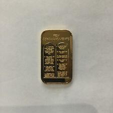 SilverTowne ST-331GP Ten Commandments Electro Gold Silver Art Bar P2854