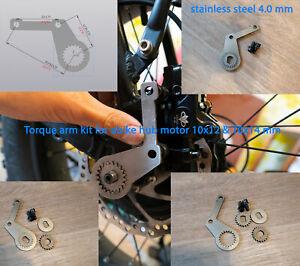 Torque Arm double Kit axle 10x14 and 10x12 mm heavy Dropout Amplifier E-bike Hub