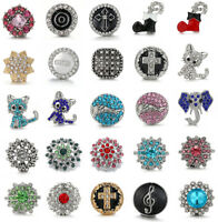 3D Crystal Chunk Charm Snap Button Fit For 18mm Drill Noosa Pendant/Bangle