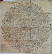 Antique maps, Topographical map ... twenty miles round London, Faden, 1800,