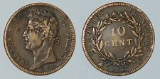 FRANCE 10 centimes 1827H French Colonies Charles X