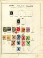 Island 1882 - 1939 * + gest. Sammlung auf Vordruckseiten