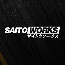 Saitoworks 'Etiqueta' Japón JDM DERIVA ADHESIVO postura Sintonizador Calcomanía de Vinilo Troquelado