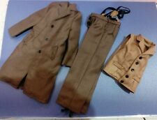 """1/6 scale Hot Bruce Lee Brown Topcoat Trousers waistcoat set for 12"""" Figure Toys"""