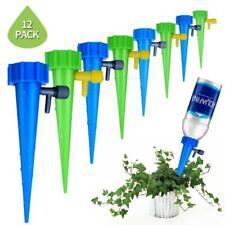 12x Automatic Watering Irrigation Spike Plant Flower Garden Drip Water Sprinkler