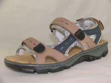 Women's Rieker 68872 Leather Casual Open-Toe Walking Sandals