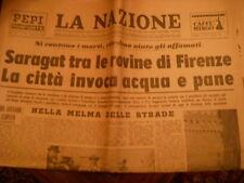 LA NAZIONE - NOVEMBRE 1966 - L'ALLUVIONE DI FIRENZE