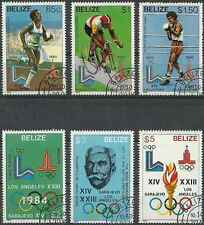 Timbres Sports JO Belize 527/32 o lot 12773