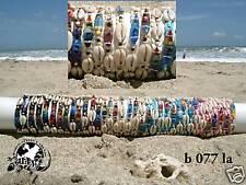 WHOLESALE 10 UNISEX MIX SURFBOARD BRACELETS SHELL & BEACH DESIGN SURFER / b077la