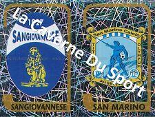 N°707 SCUDETTO ITALIA SANGIOVANNESE - SAN MARINO STICKER PANINI CALCIATORI 2004
