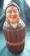 superb antique bohemian pottery cigar humidor