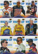 1996 Assets CLEAR ASSETS Complete 11 card Racing subset--EARNHARDT, +10 others