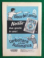 AM144 Pubblicità Advertising Clipping 19x13 cm (1967) GIOCO LANCIO CERBOTTANA
