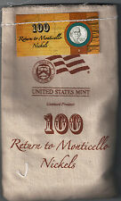 2006 P and D Nickel Lot 2 Bags of 100 Nickels Each SEALED