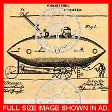 US Patent for a SUBMARINE - Simon Lake #110