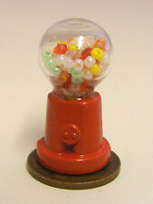 1:12 Scale Counter Metal & Glass Gumball Machine Tumdee Dolls House Miniature