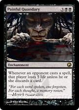 PAINFUL QUANDARY Scars of Mirrodin MTG Black Enchantment RARE