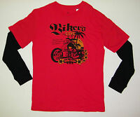 T-shirt shirt mens  X-Large DS DESTRUCTION Red Long Sleeve Graphic Biker's Cove
