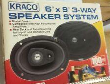 VIntage in original box New 3 Way Kraco Speakers 6x9