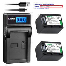 Kastar Battery LCD Charger for Sony NP-FH70 & DCR-DVD705 DCR-DVD708 DCR-DVD710