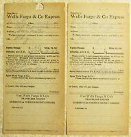1918 Wells Fargo & Co. Express, Two (2) Receipts, from Alexander Auctions