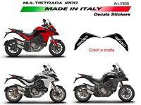Adesivi per serbatoio Ducati Multistrada 1200 DVT Alluminio Spazzolato Opaco