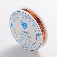 1 x 3M ROLL Copper Plated Copper Wire 0.8mm Nickel Free Jewellery Craft Making
